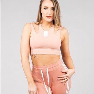 BUFFBUNNY blush pink soulstace sports bra